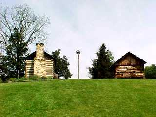 Cabins at Booker T. Washtingon National Monument