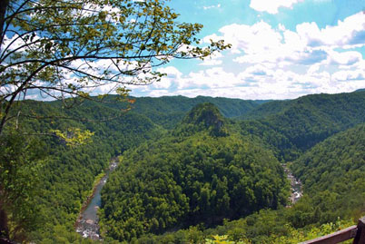 panoramic view of the Breaks at the Big Sandy River