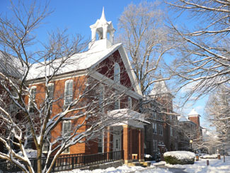 winter scene of bridgewater college