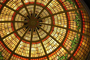 glass dome in the museum