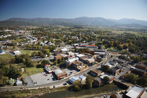 Aerial view of Luray